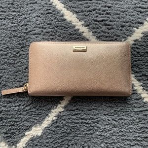 Rose gold Kate Spade continental wallet